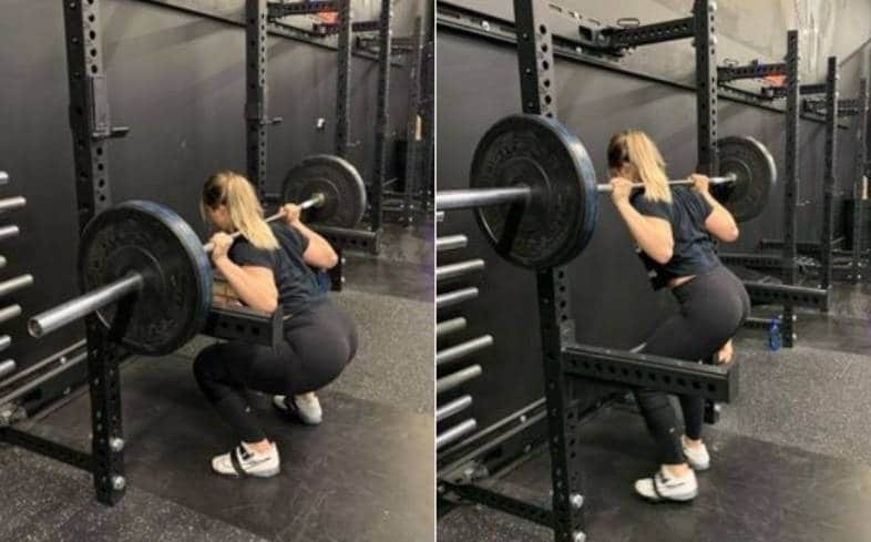 muscular fatigue happens when you are training hard on squat