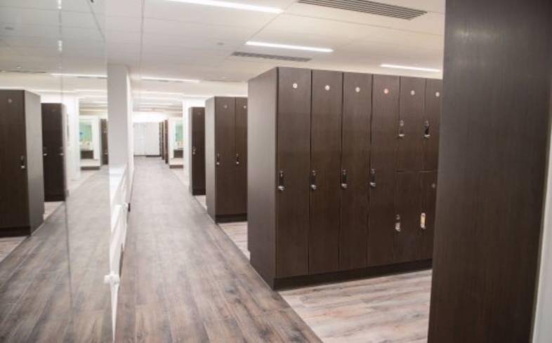 YMCA locker room