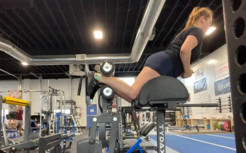 the glute ham raise is used by olympic lifters and powerlifters looking to improve lifts such as the power clean, squat, and deadlift