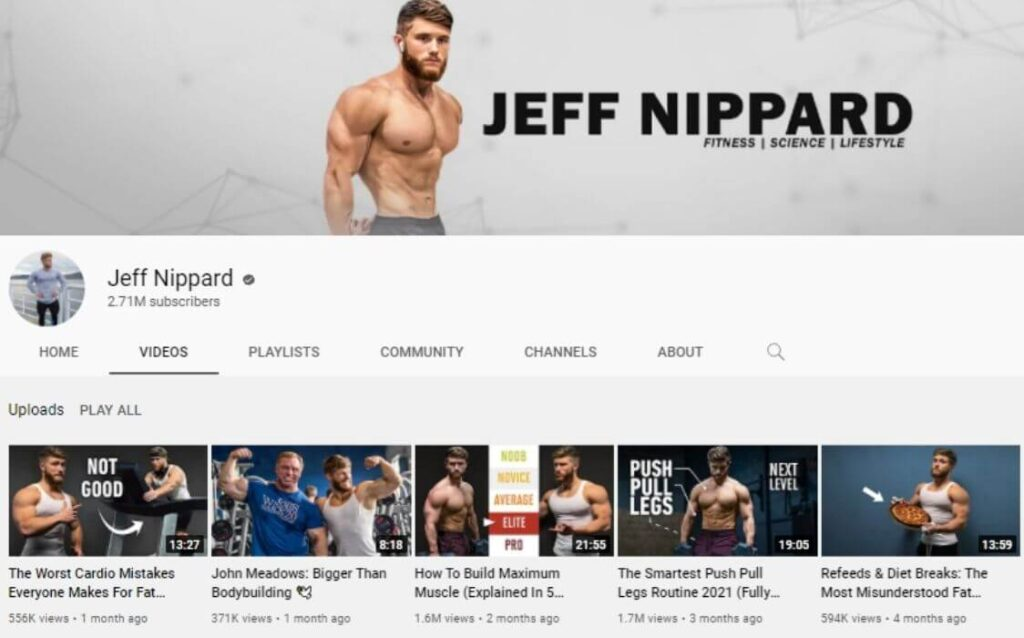 Jeff Nippard powerlifting YouTube channel