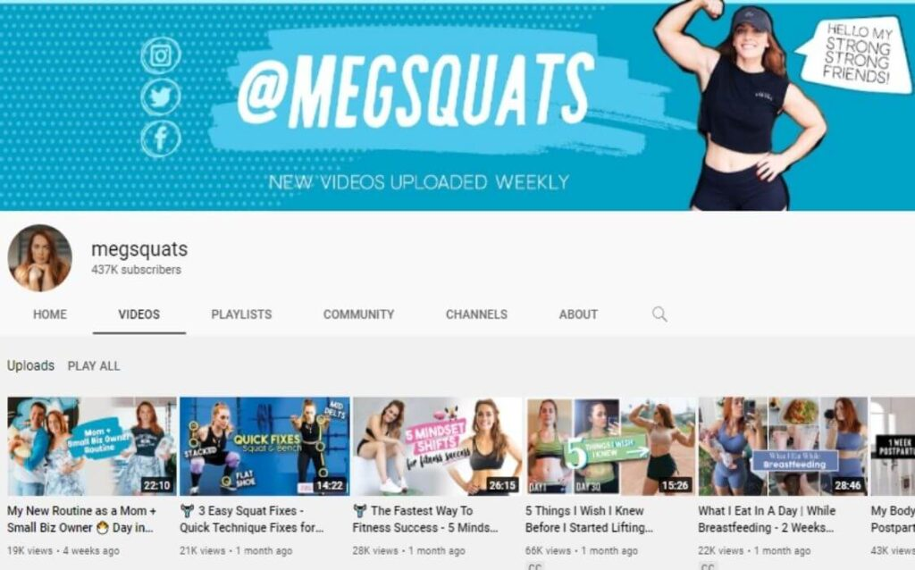 MegSquats powerlifting YouTube channel